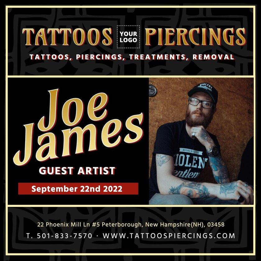 Tattoo artist presentation editable template