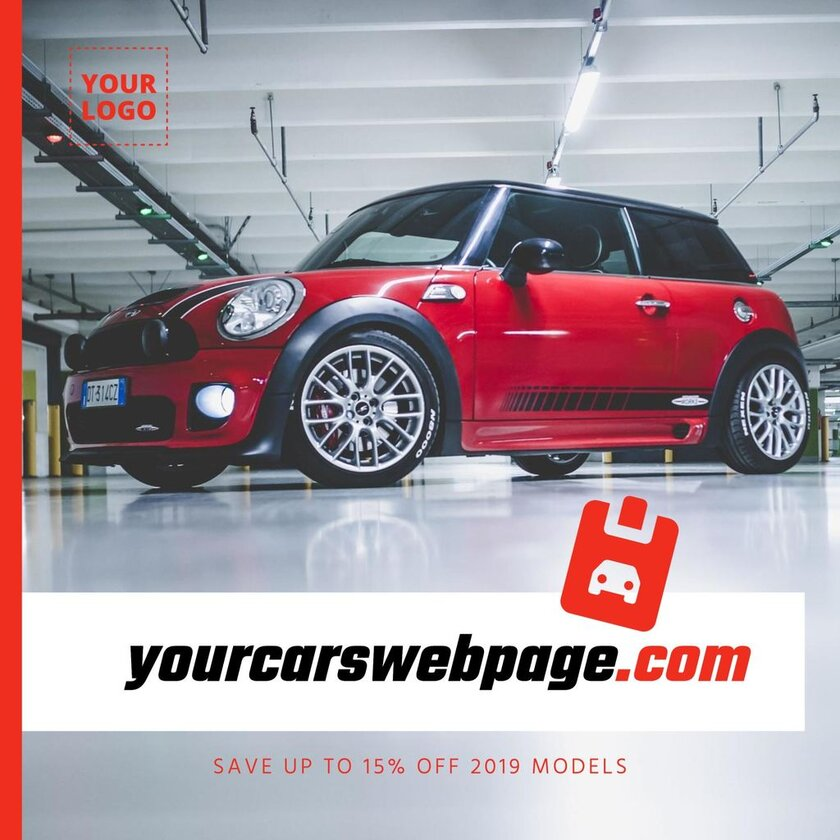 Editable template for a selling cars business