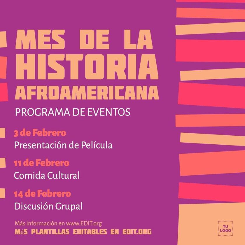 Banner editable para el Mes de la Historia Afroamericana