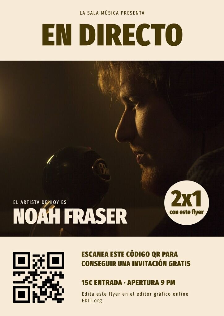 Flyer para conciertos y musica editable online en el editor EDIT.org