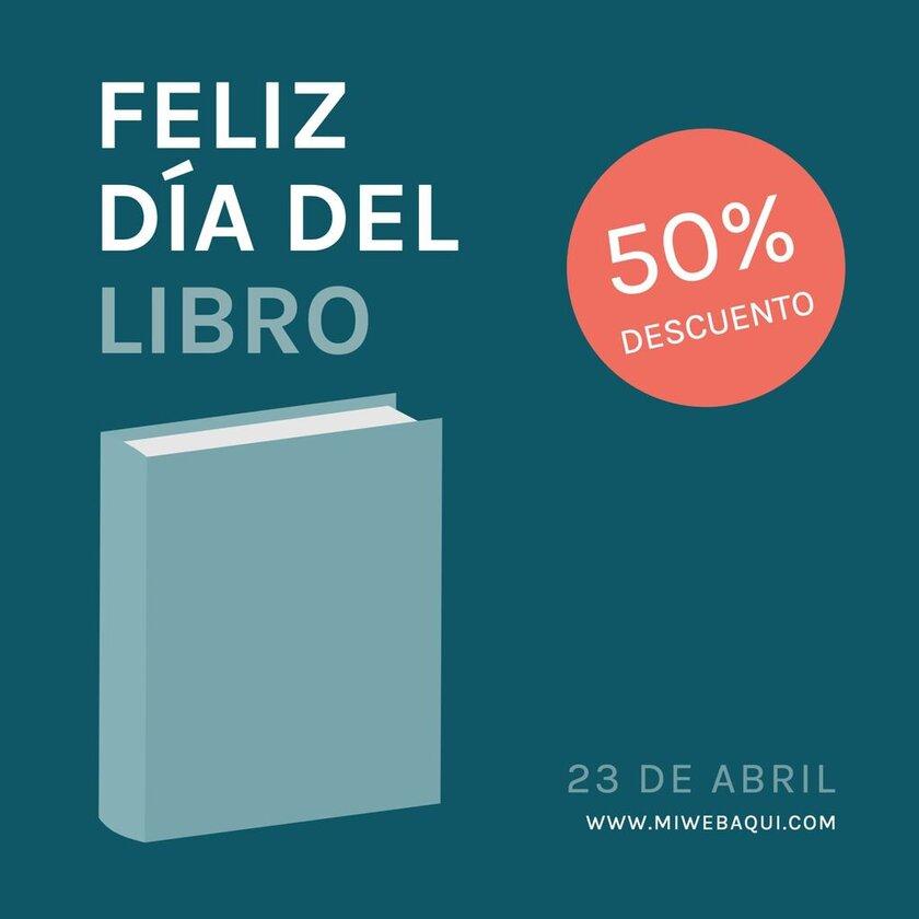 Día del Libro banner azul