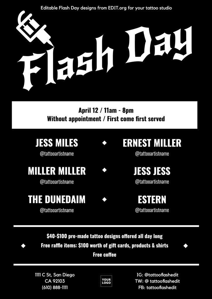 Editable Flash Day poster to customize online for free