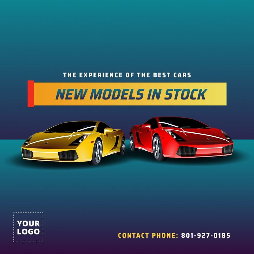 New models in stock template for car sales