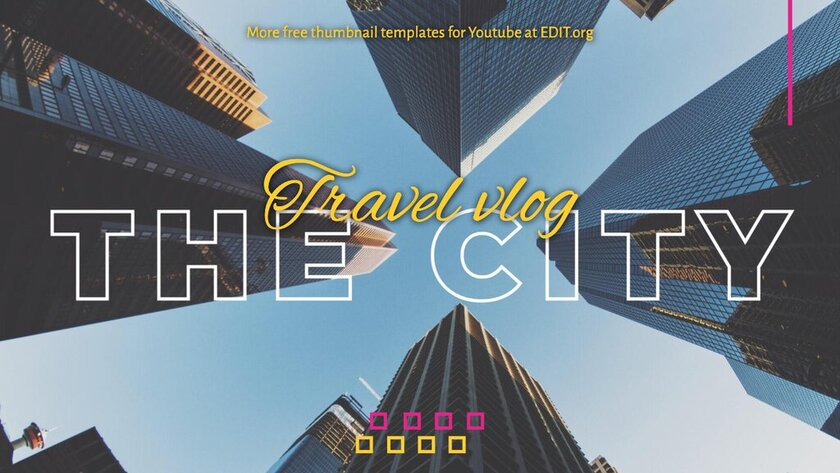 Free travel blog template to edit online