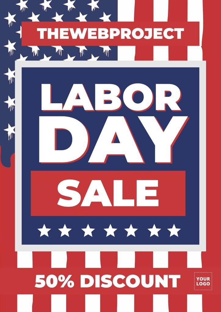 Labor Day editable template for discounts and sales