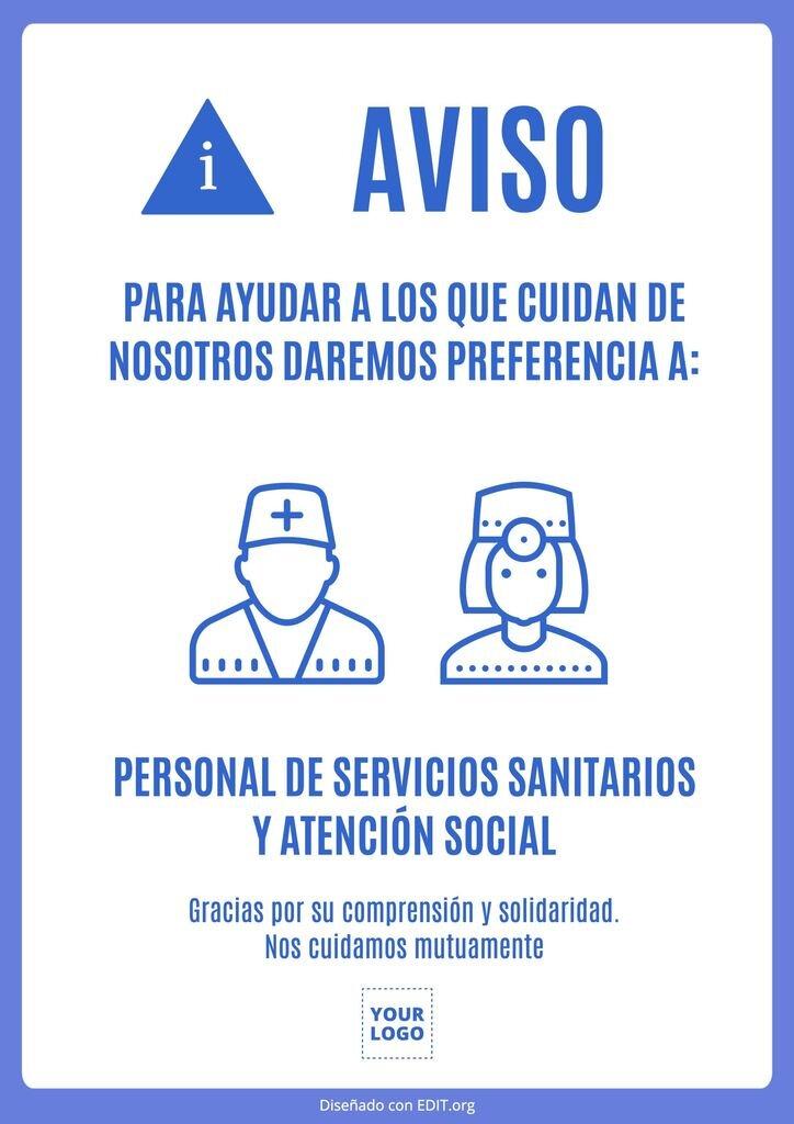plantilla imagen coronavirus preferencia empleados sanidad