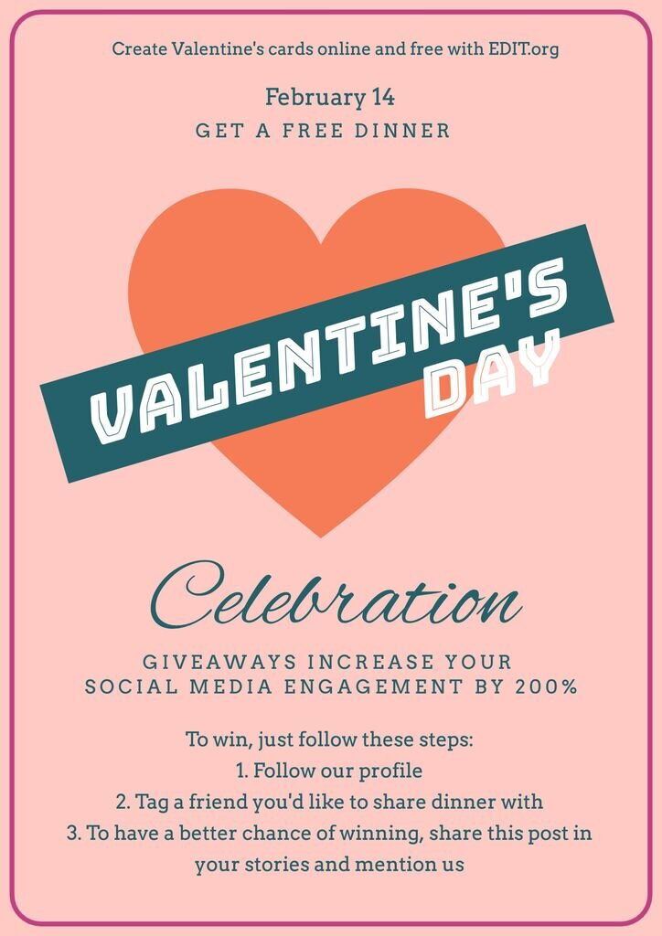 Make free Valentine cards and posters online