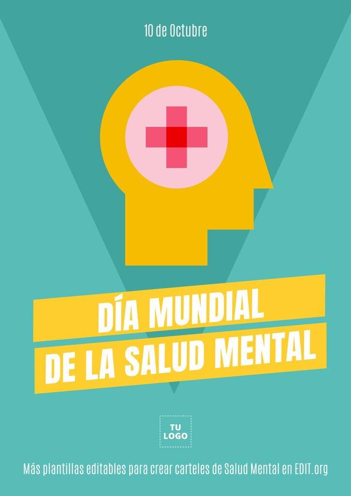 Cartel imprimible sobre salud mental para personalizar online