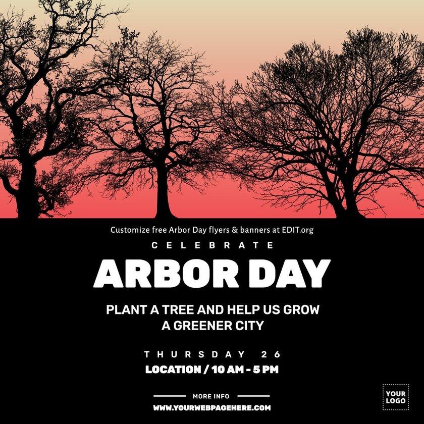 Banner template for International Arbor Day