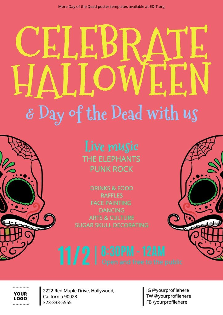 Customizable Day of the Day posters for events