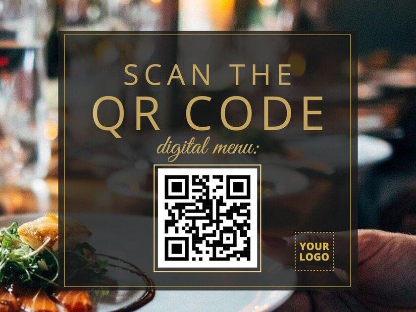 Editable QR menu template