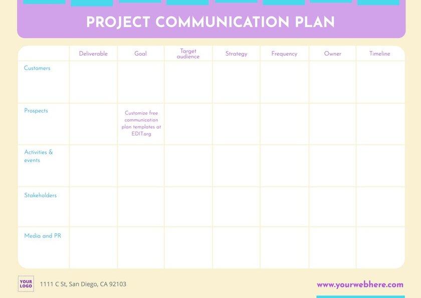 Free communication management plan example