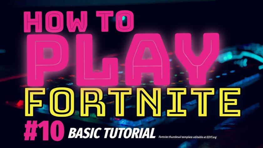 Custom Fortnite thumbnail templates