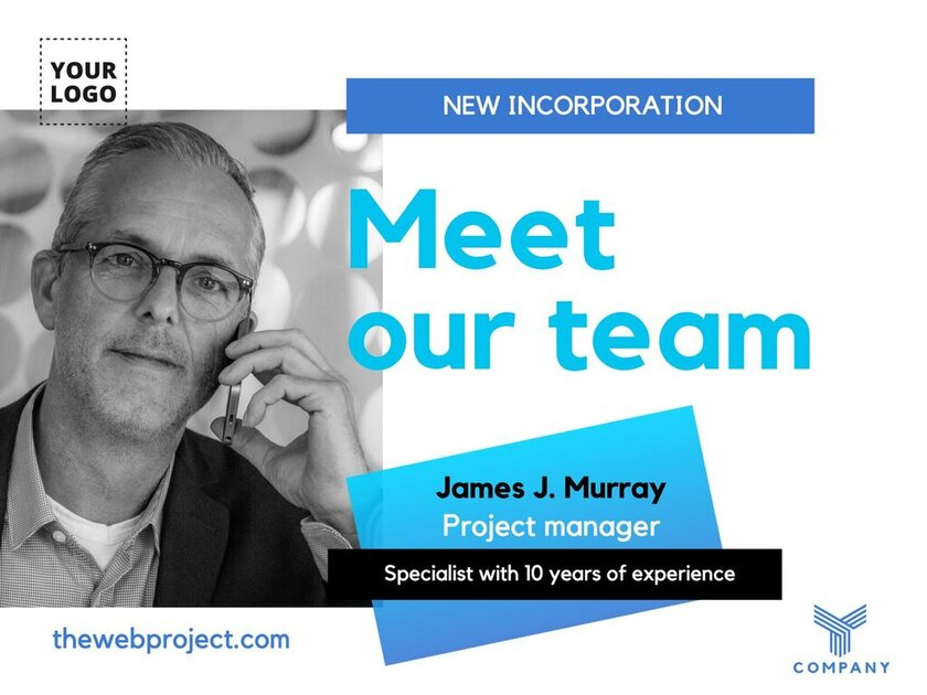 Meet the team - Template to announce new incorporations - HHRR templates