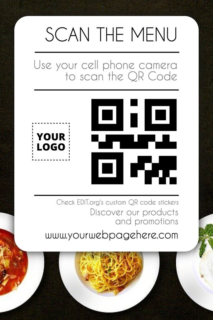 Custom stickers with QR codes