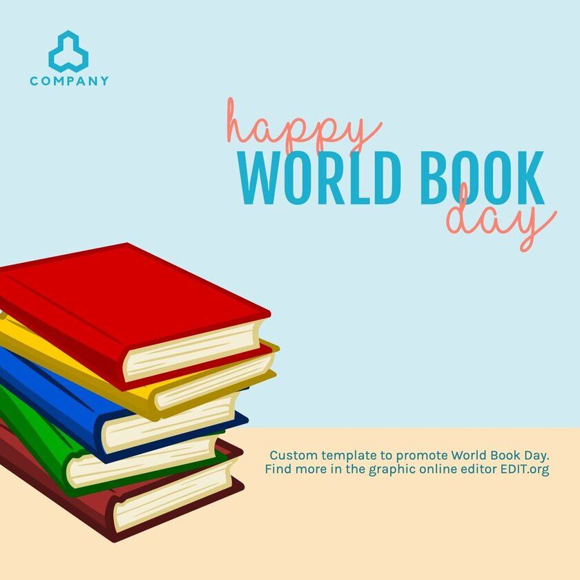 Book Day free editable template online