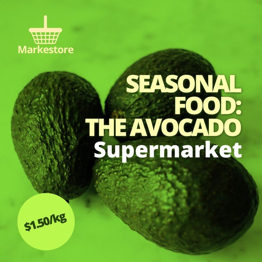 Editable template for seasonal food offers from grocery stores