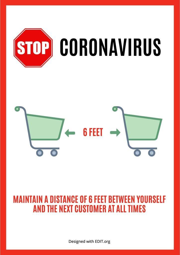 template image coronavirus recommendations supermarket