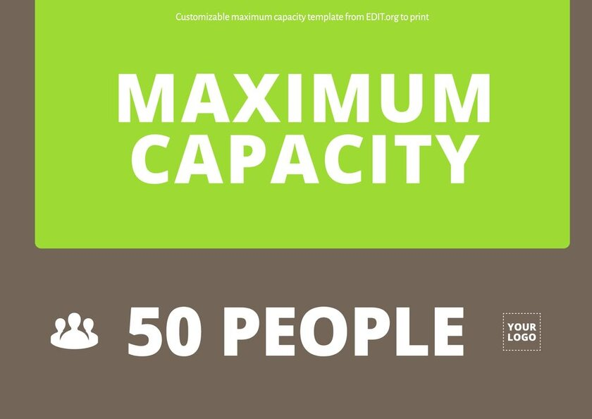 Maximum capacity template to print for free