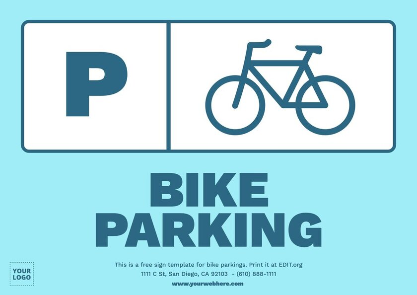 Customizable template for bicycle parking