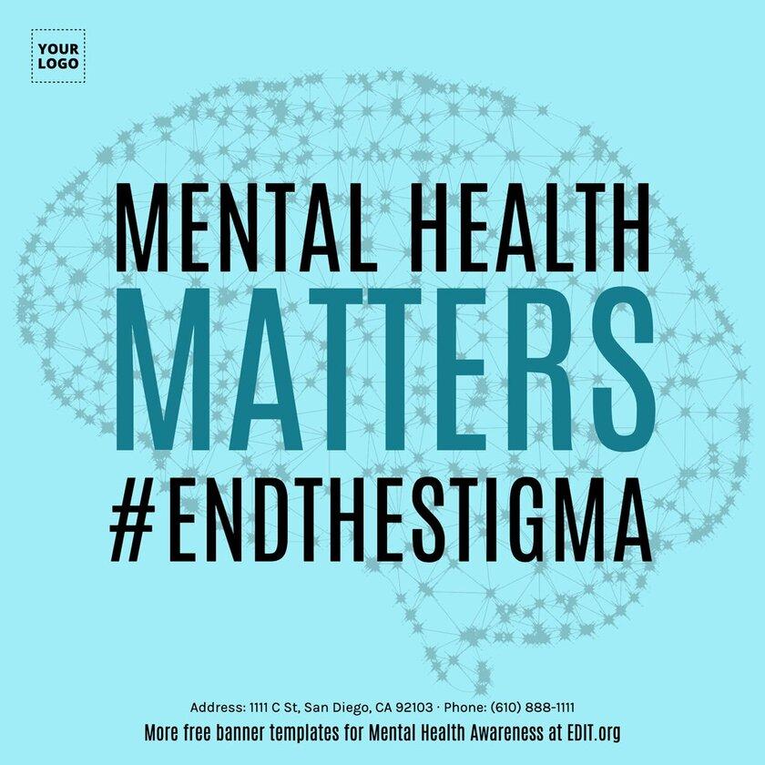Mental Health Awareness image to edit online and print