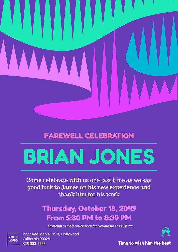 Custom farewell invitation wording