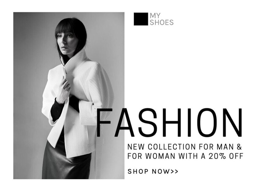 Fashion store editable templates easy and fast with the editor EDIT