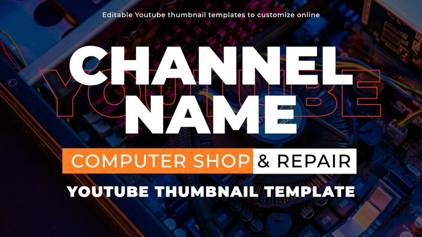 Editable Youtube template for thumbnails