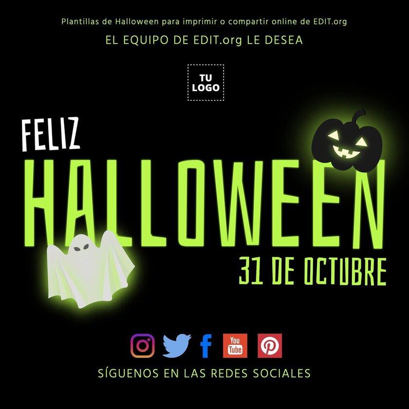 Plantillas de Halloween para imprimir y compartir en redes