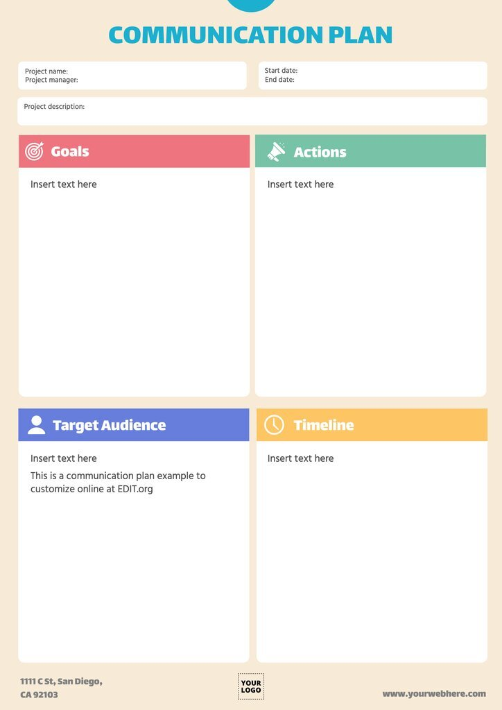 Editable strategic communication plan template