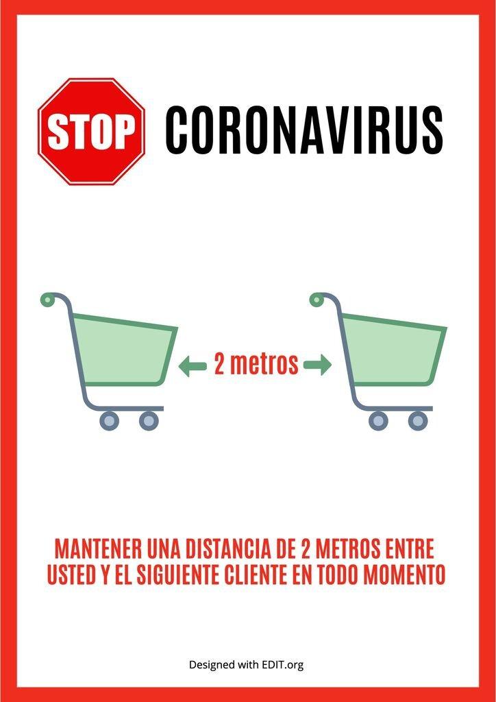 plantilla coronavirus distancia social para supermercados