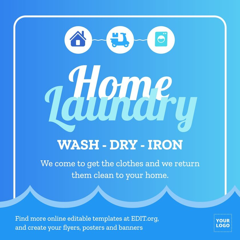 Laundry template to customize online for free