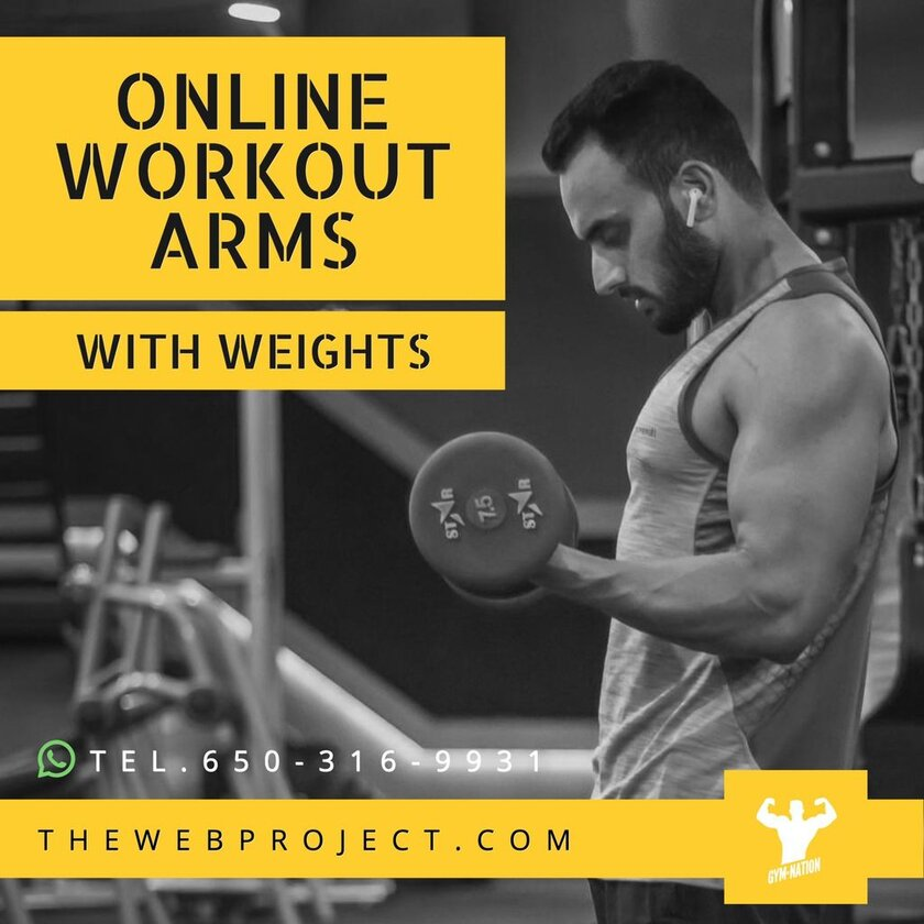 template instagram session fitness workout weights
