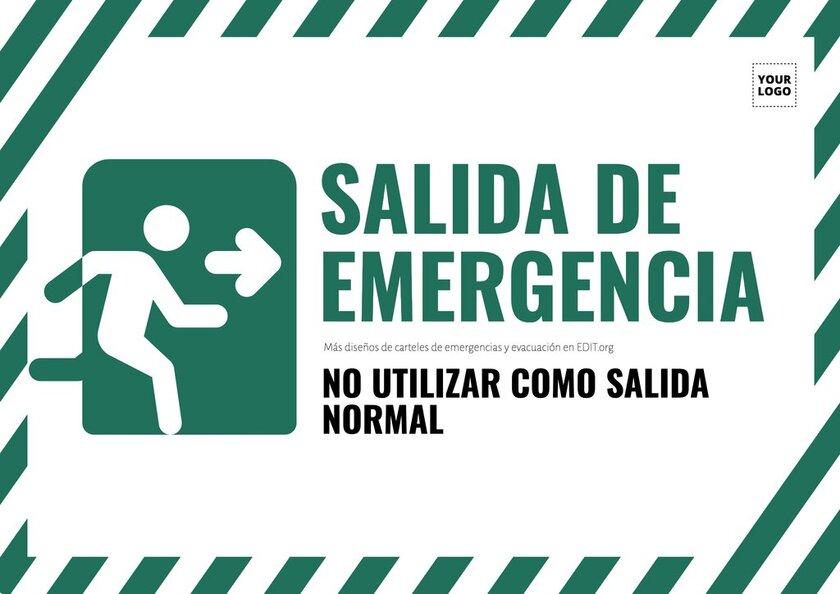 Plantillas de carteles de emergencias y evacuación