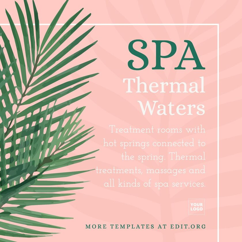 Online editor to create Spa & Wellness banners online
