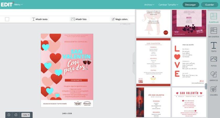 Postales de San Valentín para negocios