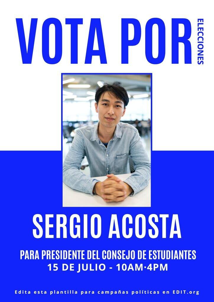 Cartel editable para promocionar campañas politicas de elecciones