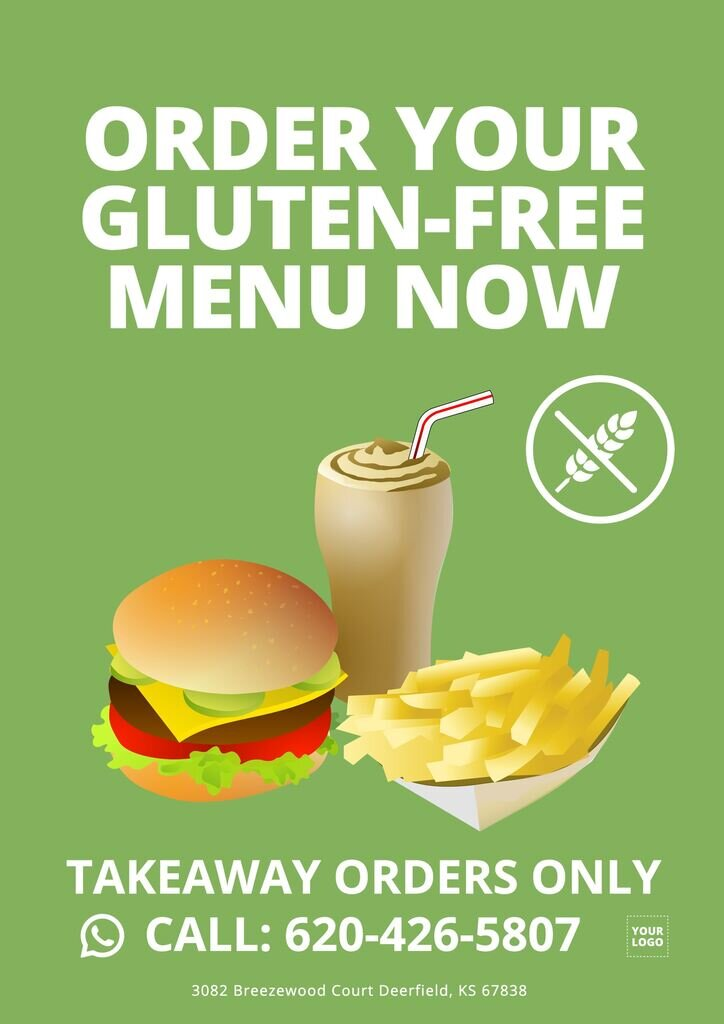 Free template for takeaway food services to customize online for free