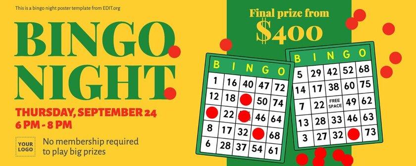 Bingo cover image template to edit