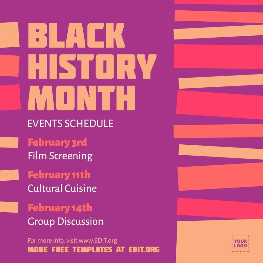 Afro-american history month template to edit online for free