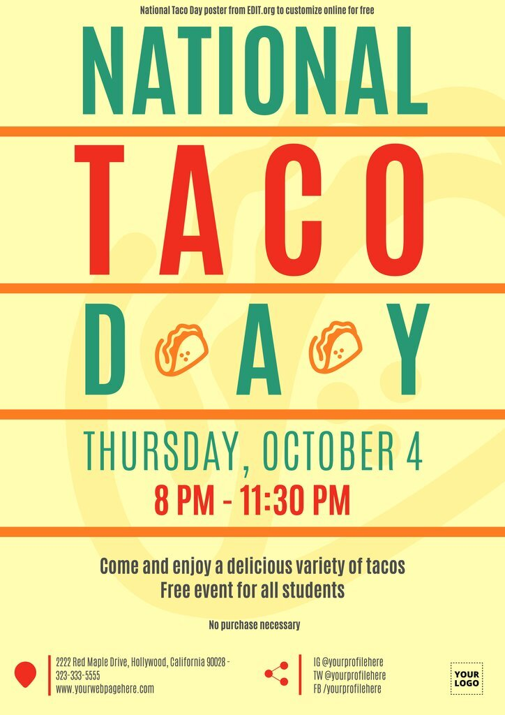 Free designs for taco events