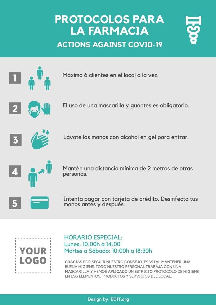 Plantilla con los mejores consejos para farmacias Coronavirus