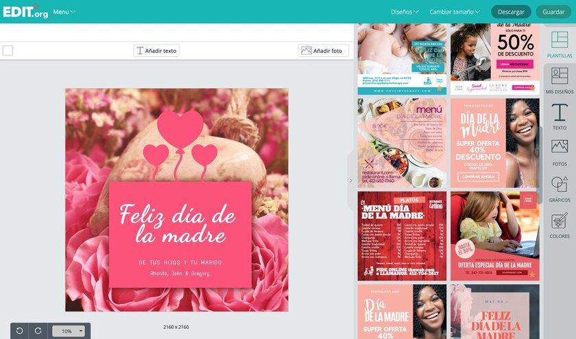 Diseños para promocionar el día de las madres editables
