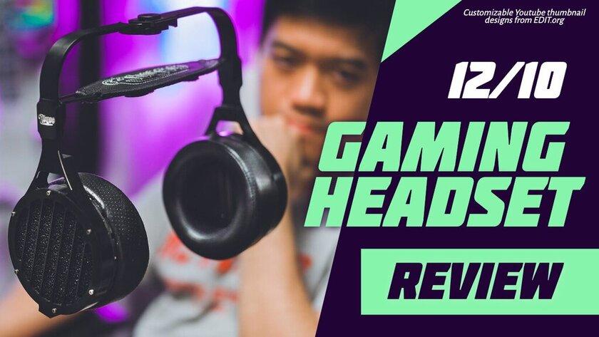 Custom gaming Youtube thumbnail template