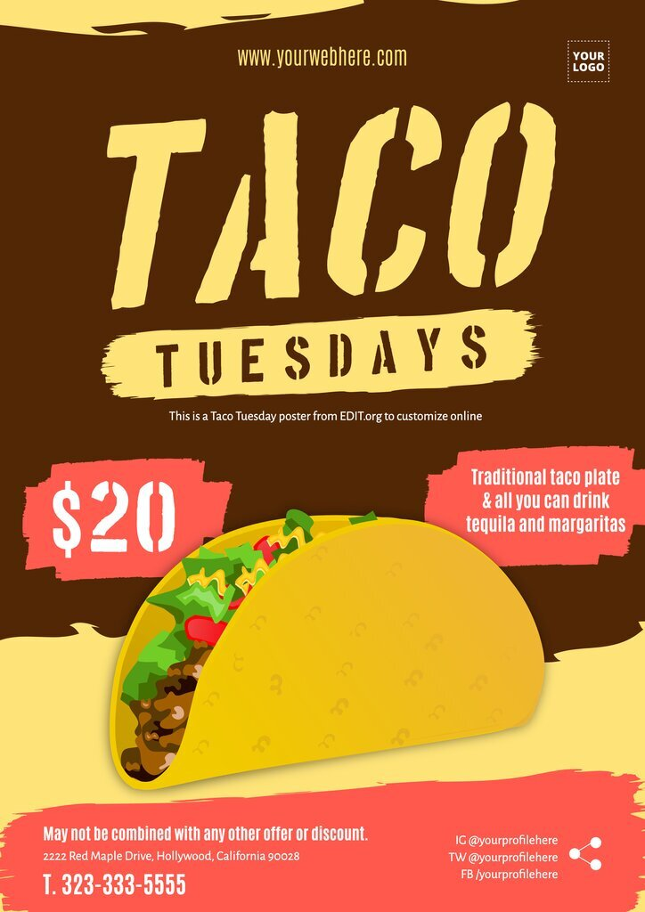 Free taco poster designs to customize online