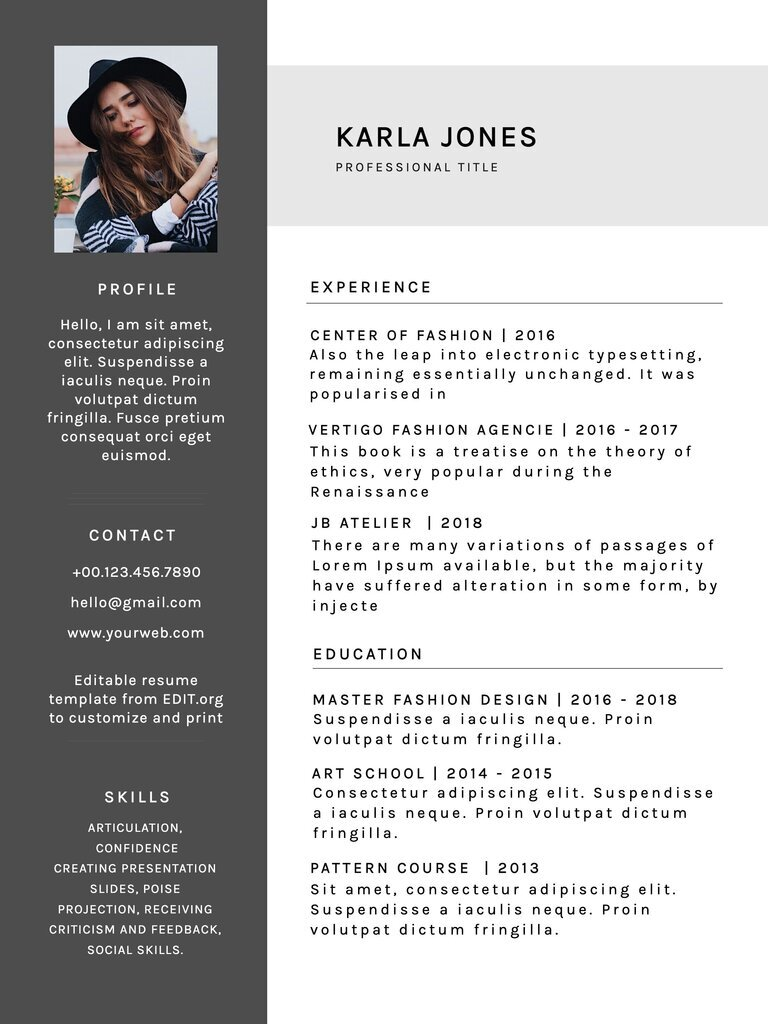 Resume builder online with free editable templates
