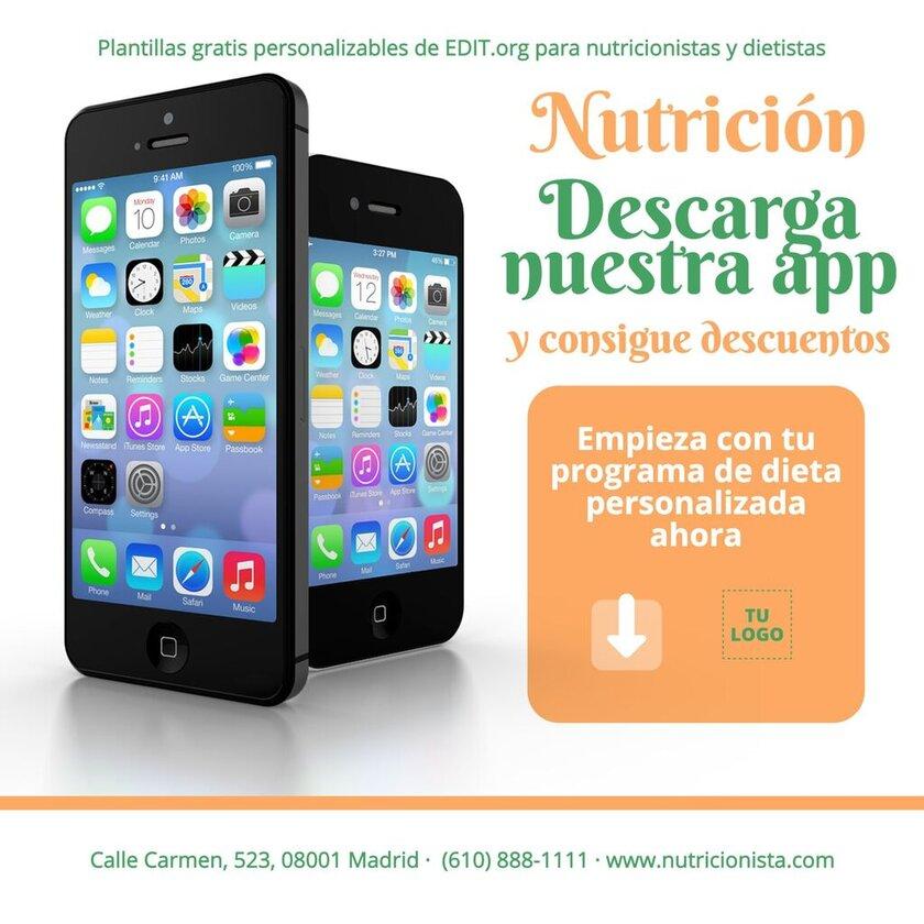 Plantillas personalizadas para nutricionistas y dietistas gratis