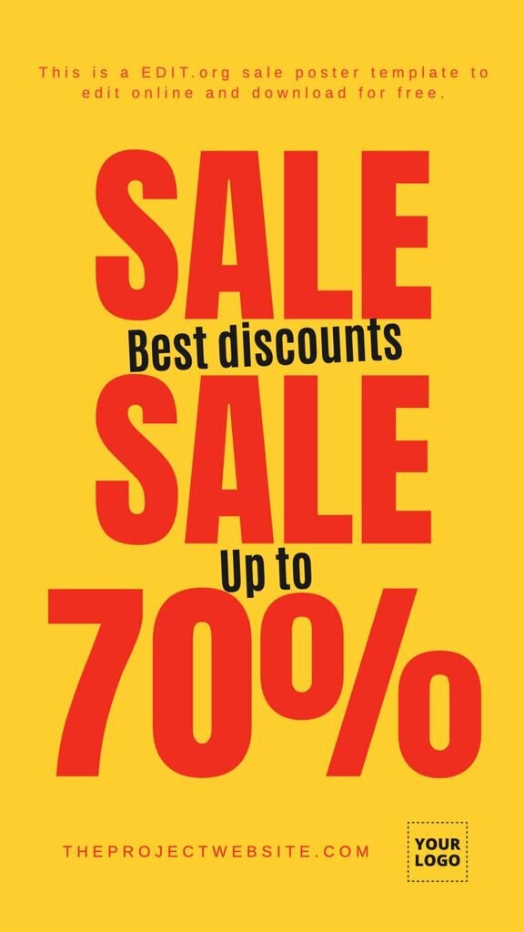 Sale signs templates to customize for free